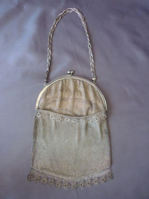 Sterling Silver Ladies Mesh Purse,