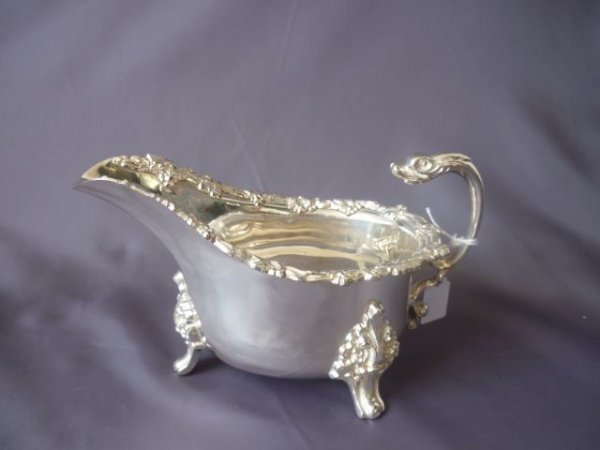 English Footed Sauce Boat,