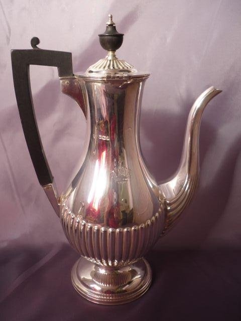 14: Handsome Late Victorian Sterling Silver Coffee Pot