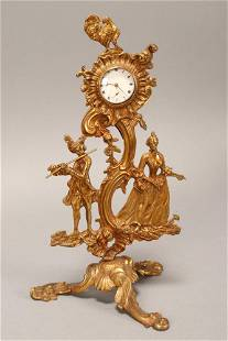 French 19th Century Gilt Cast Bronze Figural