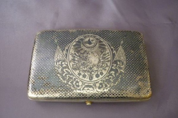 5A: Turkish Silver Niello Cigarette Case,