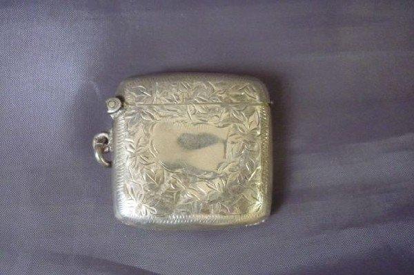 7A: George V Sterling Silver Vesta Case,