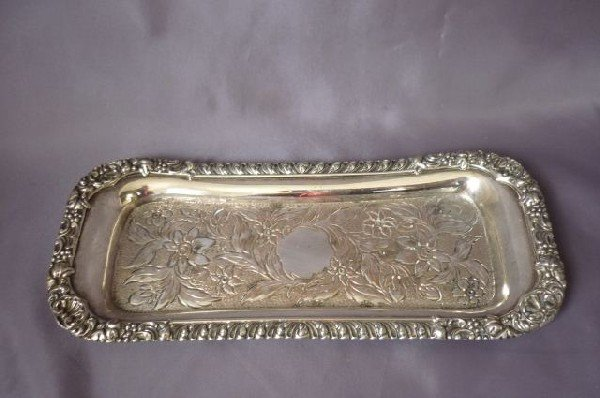 11: 19th Century Sheffield Plate Snuffer Tray,