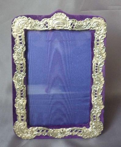 16: Edwardian Sterling Silver Photo Frame,