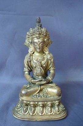 497: Good 18th Century Gilt Bronze Buddha,