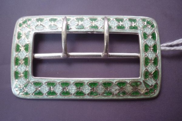 2: Good Russian Silver and Guilloche Enamel Buckle,