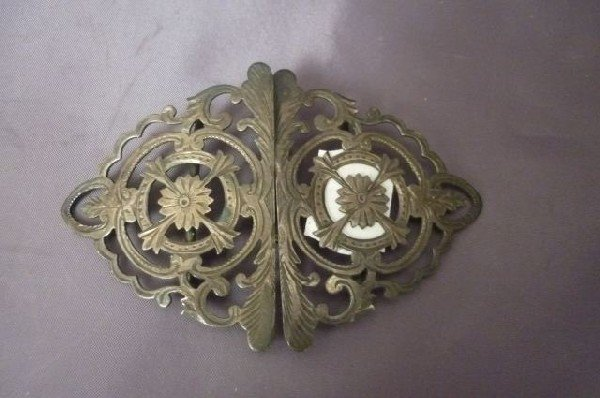 6: George V Sterling Silver Two Piece Buckle,