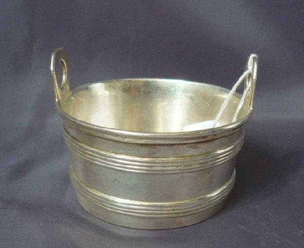 10: Austro Hungarian Silver Bucket Shaped Butter Dish,