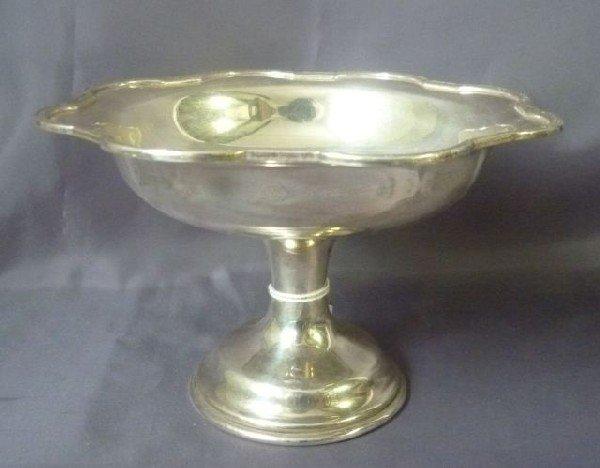 15: George V Sterling Silver Pedestal Tazza,