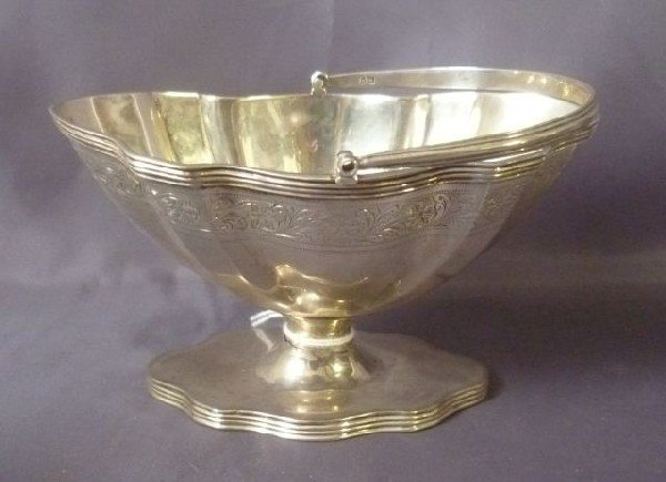 16: Edwardian Sterling Silver Pedestal Sweets Dish,