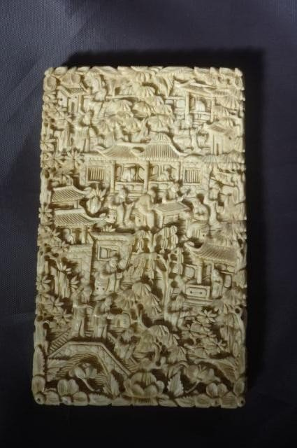 318: Finely Carved Chinese Ivory Card Case, c.1880