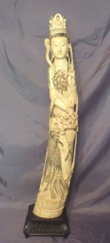 1: Large & Magnificent Chinese Carved Ivory Figure