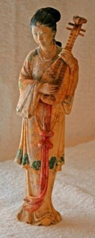 8: Chinese Ivory Figure of a Courtly Lady,