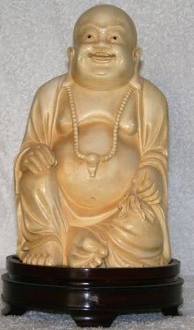 21: Large & Handsome Chinese Ivory Figure of Hotei,