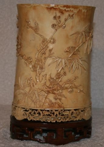 25: Chinese Carved Ivory Tusk,