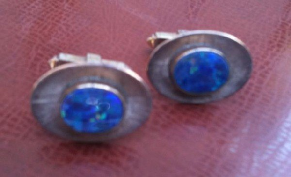 553: Pair of Brittanic 9ct Gold Cufflinks,