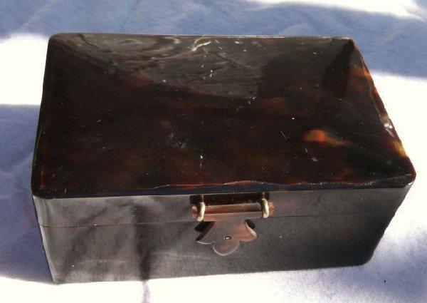 562: Tortoiseshell Rectangular Trinket Box,