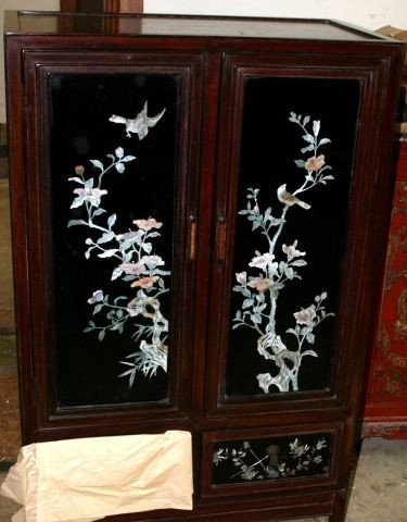 896: Pair of Chinese Rosewood Side Cabinets, c.1960