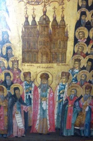 12: Stunning 18th Century Russian Church Icon,