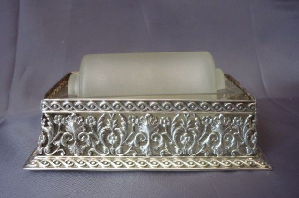 24: Silver Plate Wet Stamp Roller,