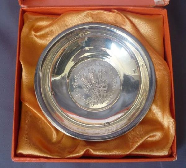 25: Sterling Silver Charles & Diana Commemorative Bowl