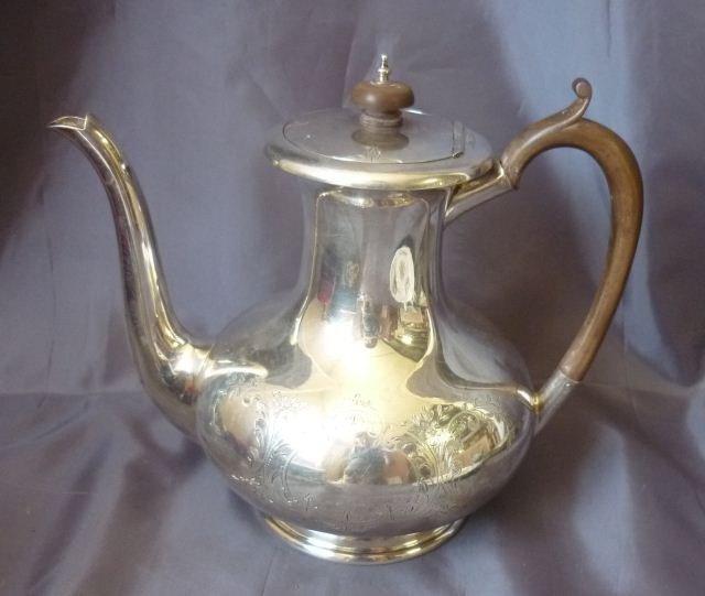 5: George V Sterling Silver Teapot,