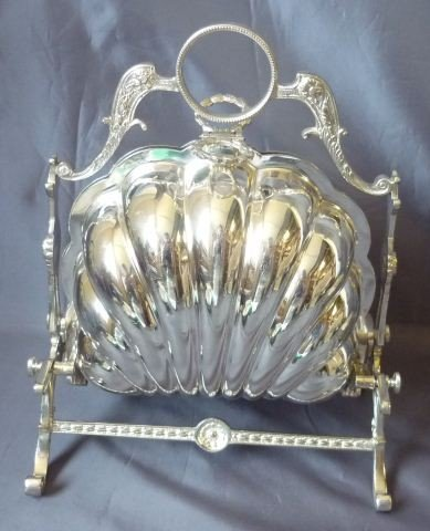 7: 19th Century English Silver Plate Biscuit Sachet,