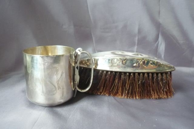 11: Sterling Silver Table Brush