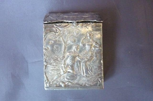 12A: German Silver Vesta Case,