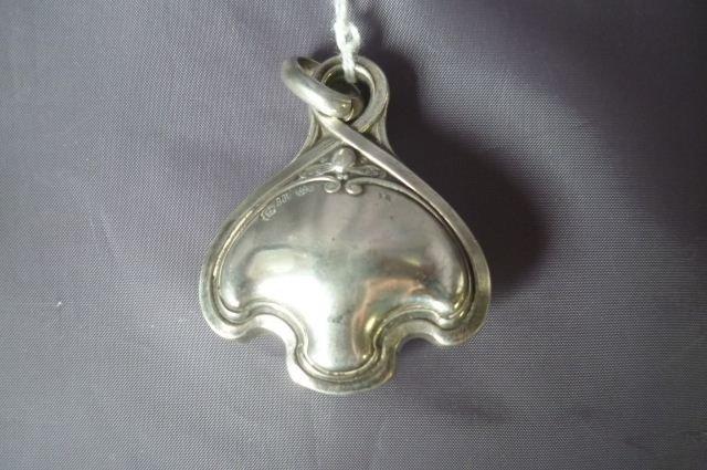 16: German Silver Art Nouveau Babies Rattle,