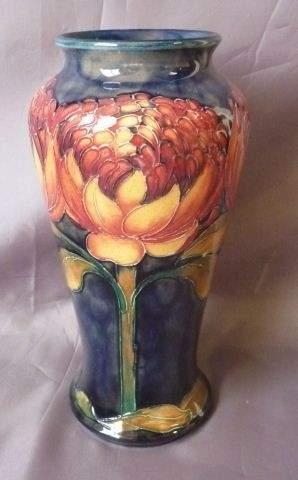 125: Rare William Moorcroft Waratah Vase,