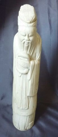 455: Chinese Carved Ivory Tusk Figure,