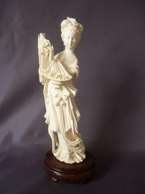 10A: Well Carved Chinese Ivory Figure,