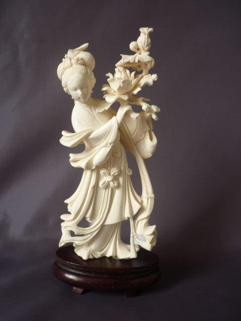 11A: Well Carved Chinese Ivory Figure,