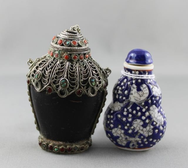 20A: Chinese Porcelain Snuff Bottle and Stopper,