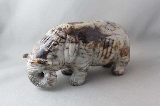 Chinese Grey Jade Elephant,