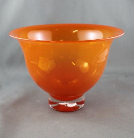 Australian Britannia Creek Glass Pedestal Bowl,