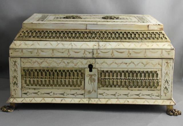 Fine Russian 19th Century Bone and Walrus Ivory