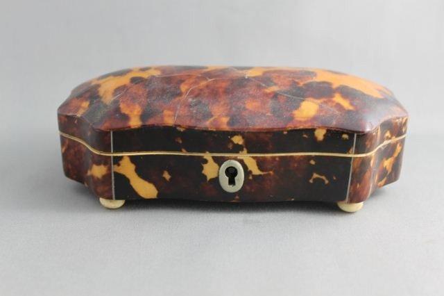 Regency Tortoise Shell Box and Cover,