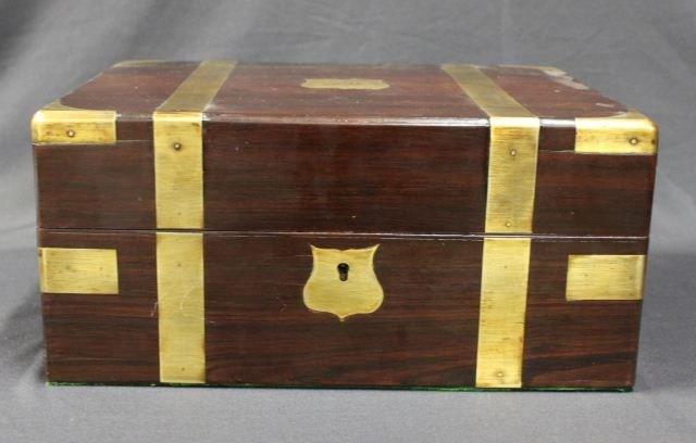 Good George III Mahogany Toilette Box and Cover,