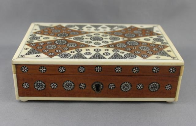 19th C Anglo-Indian Jewellery Box and Cover,