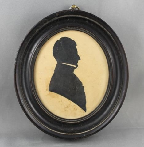 Large Framed Georgian Silhouette, c.1820