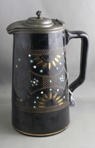 English 19th Century Staffordshire Black Glazed
