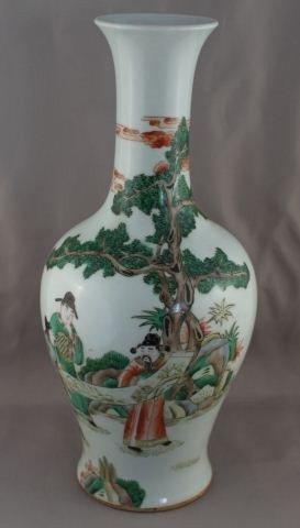 Good Chinese Famille Vert Vase,
