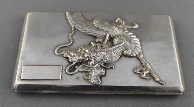 Heavy Chinese Silver Cigarette Case,