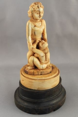 19th Century Indian Ivory Erotic Figure Group,