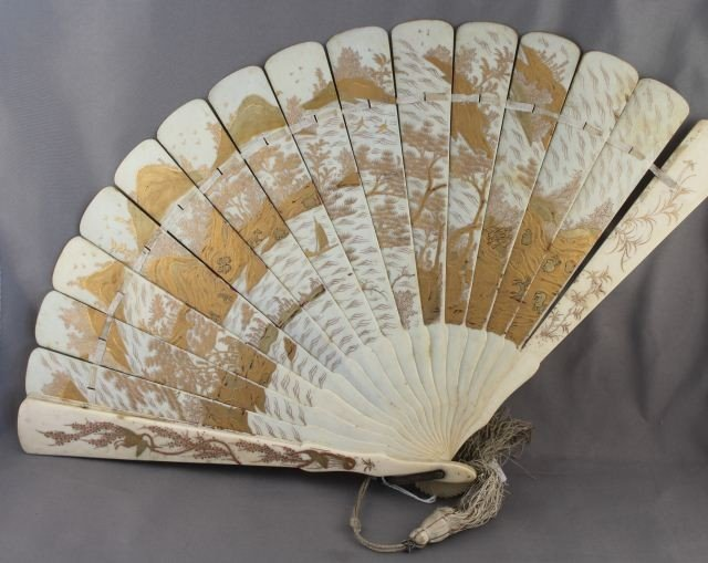 Good Boxed Japanese Ivory Fan,