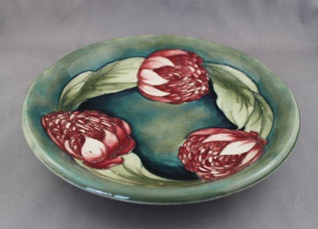 Rare Moorcroft Waratah Plate, c.1935