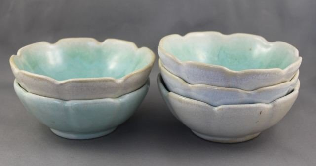Set of Five Nell McCredie Scalloped Dishes,