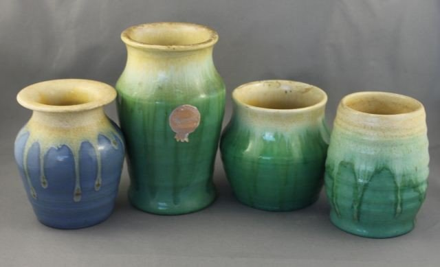 Remued Australian Pottery Vase, together with